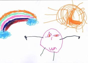 -Il sole e l'arcobaleno sconfiggono il virus- di Azzurra Seminari